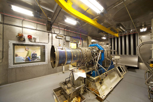 APU auxiliary motor tested in iac test facility